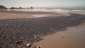Indian Beach, Oregon USA dolly shot 4K. UHD. Indian Beach in Ecola State Park, Oregon, United States. 4K UHD stock video