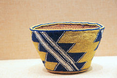 Indian Beaded Basket Stock Photography