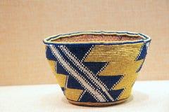 Indian Beaded Basket Stock Photography
