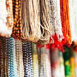 Indian beads in local market in Pushkar. Royalty Free Stock Photos