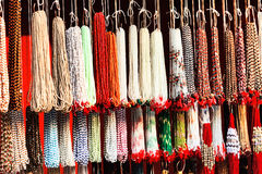 Indian beads in local market in Pushkar. Stock Image