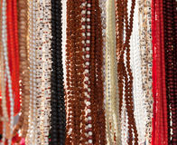 Indian beads in local market in Pushkar. Royalty Free Stock Photo