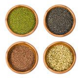 Indian beans : Mung , Urad , lentils Stock Photo