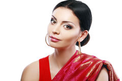 Indian beautiful fashion model face Royalty Free Stock Photos