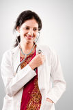 Indian beautiful  female doctor Royalty Free Stock Images