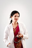 Indian beautiful female doctor Stock Photos