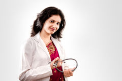 Indian beautiful  female doctor Royalty Free Stock Image