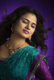 Indian Beautiful girl enjoying the wind. Royalty Free Stock Photos