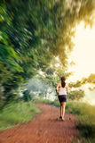 Indian beautiful girl on morning walk Royalty Free Stock Photos