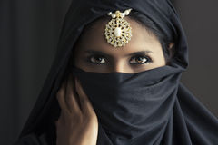 Indian beautiful Muslim girl portrait Royalty Free Stock Photo