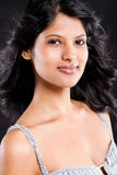 Indian beauty. Young indian beauty on black background Stock Photography