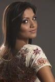 Indian beauty Looking over her shoulder Stock Image
