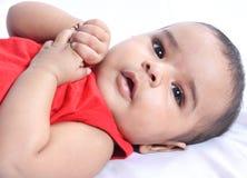Indian bebê idoso de 4 meses Imagens de Stock Royalty Free