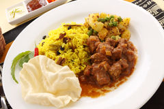 Indian Beef Curry Stock Images