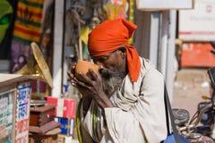 Indian beggar Stock Image