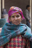 Indian beggar woman on the street in Leh, Ladakh. India Stock Images