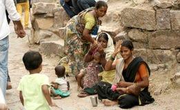 Indian beggars seek help Stock Images