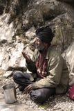 Indian begger Stock Photo