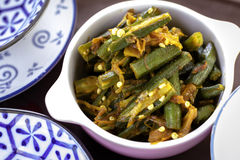 Indian Bhindi Masala Stock Photography