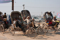 Indian bicycle rickshaws Royalty Free Stock Photos