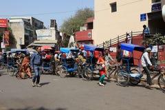 Indian Bicycle Taxi or Rickshaw Royalty Free Stock Image