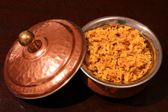 Indian Biriyani rice bowl  Royalty Free Stock Photography