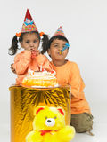 Indian birthday celebrations. Indian children birthday celebrations bash Stock Photos