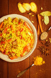 Indian Biryani with chicken and spices Stock Images