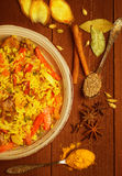 Indian Biryani with chicken and spices Royalty Free Stock Photography