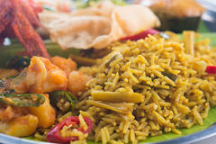 Indian biryani rice closeup Stock Images