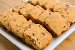 Fruit biscuits Stock Image