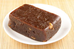 Indian black halwa. Royalty Free Stock Photography
