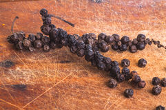 Indian Black Pepper and Ground Cayenne Pepper Stock Photos