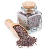 Indian Black salt, Kala namak, in a glass bottle Royalty Free Stock Image