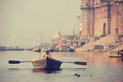 Indian boatman Royalty Free Stock Photography