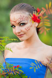 Indian body art Stock Image