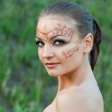 Indian body art Stock Photography