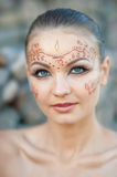 Indian body art Royalty Free Stock Image