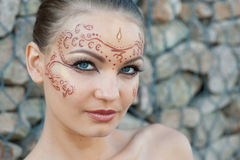 Indian body art Stock Photo
