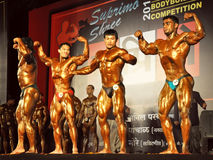 Indian bodybuilders competition in Mumbai Stock Images