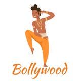 Indian Bollywood couple dancing vector Royalty Free Stock Photos