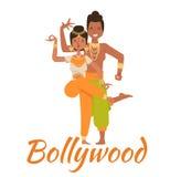 Indian Bollywood couple dancing vector Stock Photos
