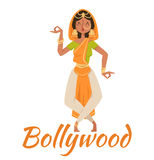 Indian Bollywood couple dancing vector Royalty Free Stock Photo