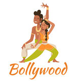 Indian Bollywood couple dancing vector Stock Image