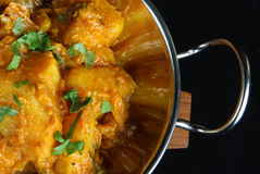 Indian Bombay Aloo Potato Curry Royalty Free Stock Photo