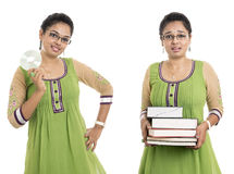Indian with books and CD Royalty Free Stock Photography