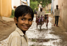 Indian boy. Young Indian boy looks curious tourists Stock Photography