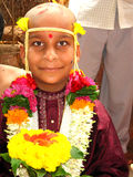 Indian boy at ceremony Stock Photography