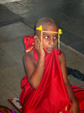 Indian boy chanting mantra  Stock Image