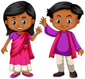 Indian boy and girl smiling Royalty Free Stock Photo